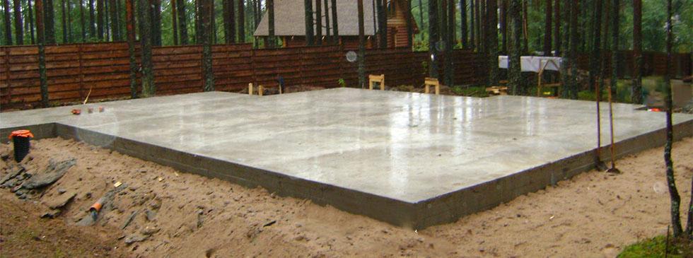 Фундаментная плита – надежная основа дома на слабом грунте